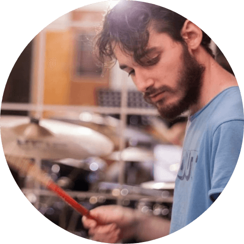 Matteo Milli, insegnante di batteria e tecnico del suono